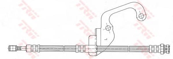 Шланг тормозной передн левый HYUNDAI GALLOPER II PHD628