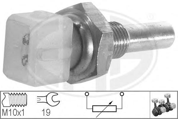 Датчик температуры охлаждающей жидкости AUDI: 100 (44, 44Q, C3) 1.8 KAT/1.8 quattro KAT 82-90, 100 (4A, C4) 2.0 E 16V/2.0 E 16V quattro/2.6/2.6 quattro/2.6 E quattro/2.8 E/2.8 E quattro