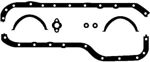 Прокладка поддона GLASER E3065300 /E30653/ FORD 1.6-2.0 OHC (кмпл.)