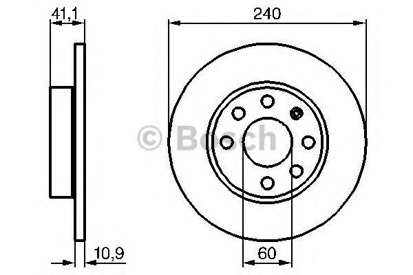 Диск тормозной OPEL: CORSA C 00 -, CORSA C фургон 00- VAUXHALL: CORSA Mk II 00 -, CORSAVAN MK II 00-