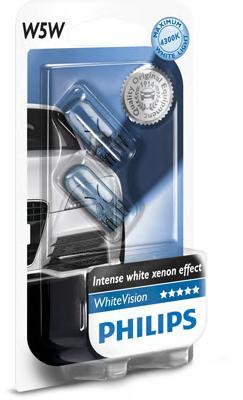 Лампа W5W White Vision 4300K 12V 12961NBV B2 (2шт) 39204330