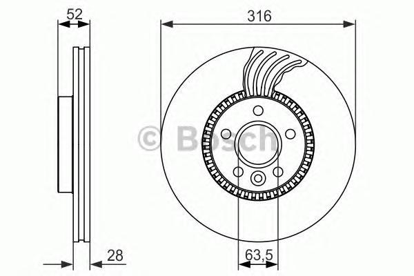 Тормозной диск передний 0986479620