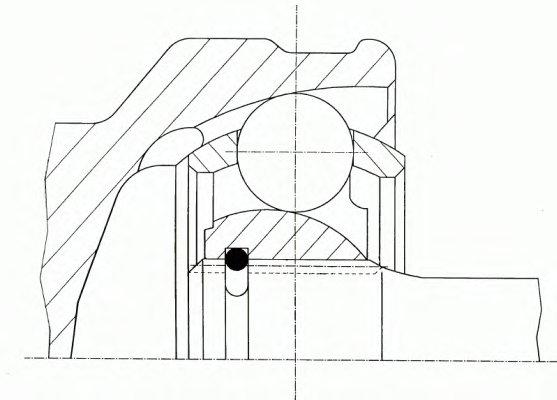 ШРУС наружний HYUNDAI/KIA i30/ KIA: Ceed: 2.0 06- (23x60x27)
