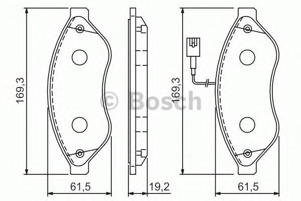 """Колодки тормозные CITROEN JUMPER/FIAT DUCATO/PEUGEOT BOXER R15"""" 06- передние"""