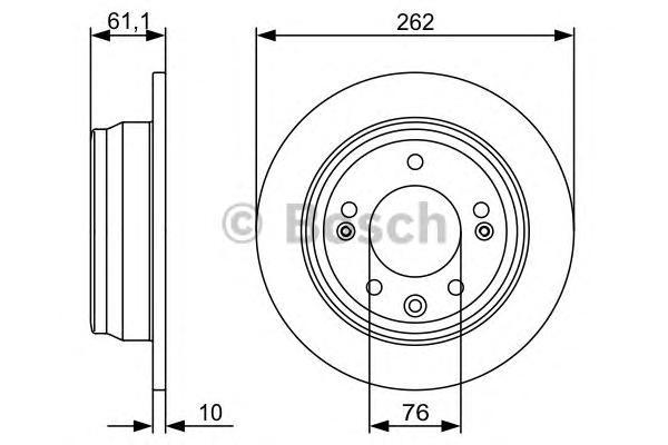 Тормозной диск задний 0986479508
