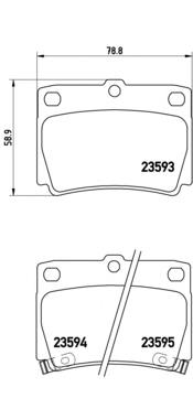 Колодки тормозные MITSUBISHI PAJERO SPORT/MONTERO SPORT 98>09 2.5D/3.0 задние