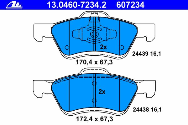 Колодки тормозные дисковые передн, FORD: MAVERICK 2.0 16V/2.3 16V/3.0 V6 24V 01- \ MAZDA: TRIBUTE 2.3 AWD/3.0 V6 AWD 00-08