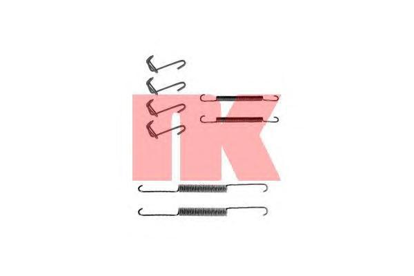 Монтажный комплект задних барабанных колодок / OPEL Ascona-C,Kadett-D 79~