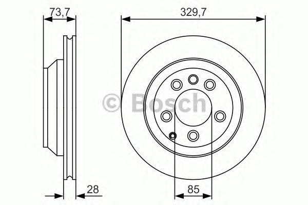 Диск тормозной AUDI Q7/VW TOUAREG/PORSCHE CAYENNE задний вент.