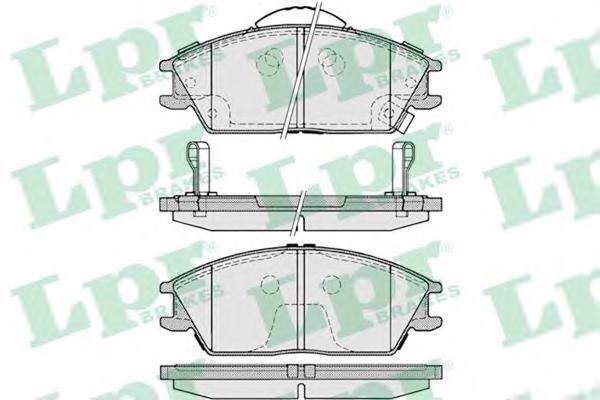 Колодки тормозные LPR 05P1222 =GDB3331 HYUNDAI GETZ/ACCENT пер с датч