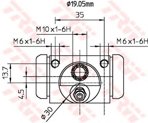 Цилиндр колесный FORD FIESTA V, FUSION, MAZDA 2 (DY) BWD312