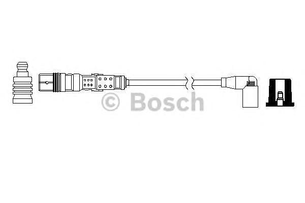 Провода в/в BOSCH 0986357729 AUDI /VW 4 цилиндр