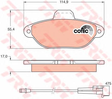 Колодки передние FIAT PANDA (169), PUNTO (176) GDB1115