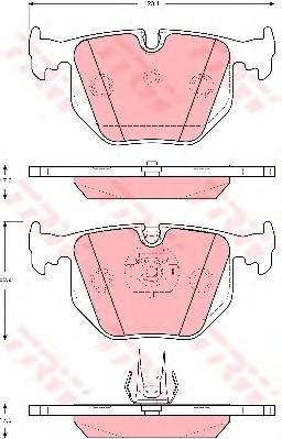 Колодки задние RANGE ROVER III (LM) 4x4 GDB1527