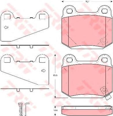 Колодки задние MITSUBISHI LANCER (CS) 2,0 EVO, SUBARU IMPREZA (GD, GG) GDB3350