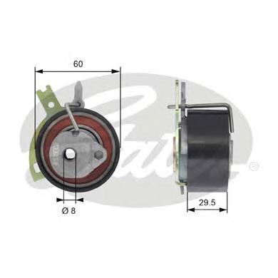 Ролик натяжителя GATES T43186 Citroen C5-C8 2.2HDi 06- /Ford Mondeo 2.2TDCi 08-