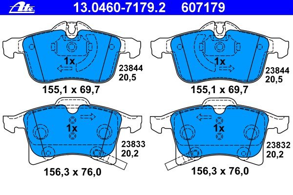 Колодки тормозные дисковые передн, OPEL: ASTRA H 1.2/1.3 CDTI/1.4/1.4 LPG/1.6/1.6 Turbo/1.7 CDTI/1.8/1.9 CDTI/1.9 CDTI 16V/2.0 Turbo 04-