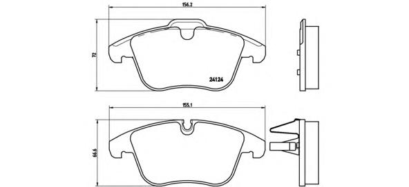 Колодки тормозные JAGUAR S-TYPE/XF/XJ/XK 2.5-4.2 99- передние