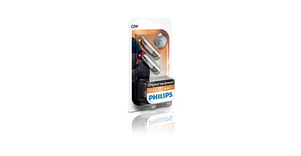 Лампа PHILIPS 12844B2 12V 5W (SV8.5) блистер 2шт
