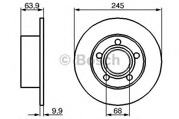 Диск тормозной AUDI A100 91>94/A6 95>05/VW PASSAT 97>05 задний