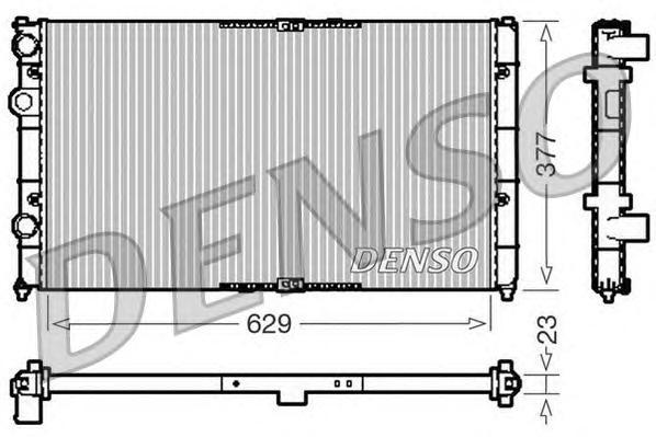 Радиатор системы охлаждения SEAT: INCA (6K9) 1.4 16V/1.4 i/1.6/1.9 SDI 95 - 03 \ VW: CADDY II пикап
