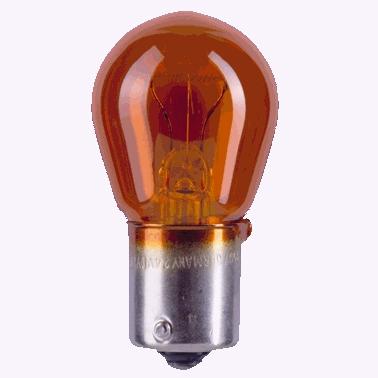 Лампа 12В 21Вт 1-контактная смещенный металлический цоколь желтая Narva