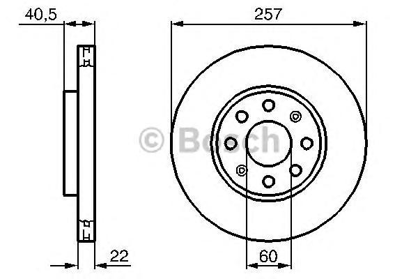 Диск тормозной OPEL CORSA D 06-/FIAT PUNTO 09- передний вент.