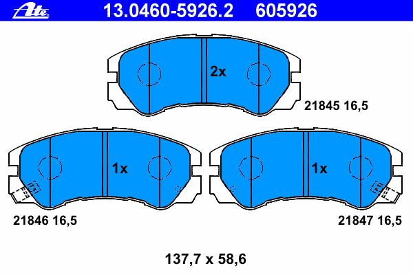 Колодки тормозные дисковые передн, ISUZU: TROOPER 3.0 DTI/3.5 V6 24V 00-