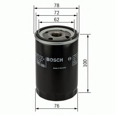 Фильтр масляный BOSCH 0451103232 Opel Kadett/Astra/Ascona/Vectra 1.6D-1.7D 82>