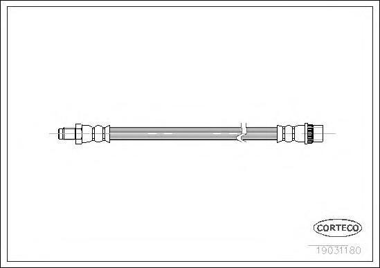 Тормозной шланг задний [210mm]