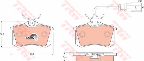 Колодки задние FORD GALAXY (WGR), VW SHARAN (7M_) GDB1415
