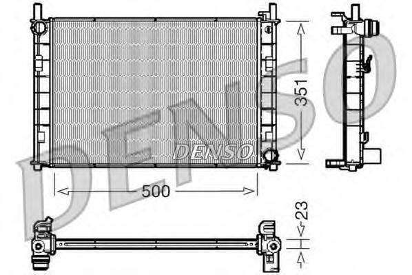 Радиатор системы охлаждения FORD: FIESTA V (JH, JD) 1.4 16V/1.6 16V 01 -
