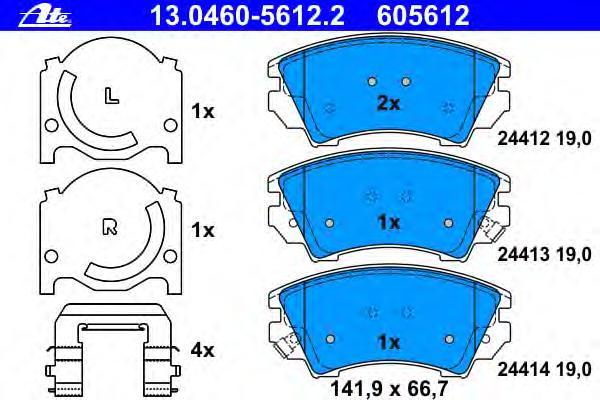 Колодки тормозные дисковые передн, CHEVROLET: MALIBU 2.0/2.0 D/2.0 LPG/2.4 12- \ OPEL: ASTRA GTC J 1.4/1.6/1.6 SIDI/1.7 CDTI/2.0 BiTurbo CDTI/2.0 CDTI 11-