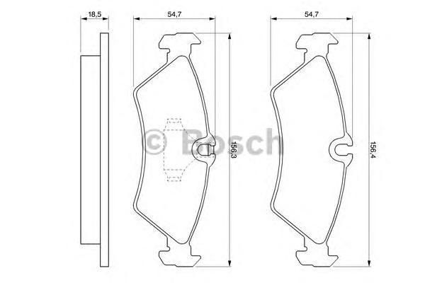 Колодки тормозные MERCEDES W460/W463/SPRINTER (901-904)/VW LT 97>07 задние