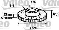 Тормозной диск Fr L PORSCHE, VW TOUAREG