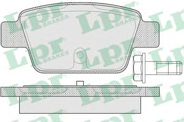 Колодки тормозные LPR 05P780 FIAT 500/ BRAVO 08- задн