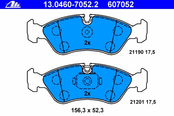 Колодки торм.пер. Opel Omega A, Vectra A/B, Astra