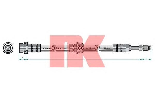 Шланг тормозной NK 8525134 FORD Fiesta 03/05-/Fusion 08/02-