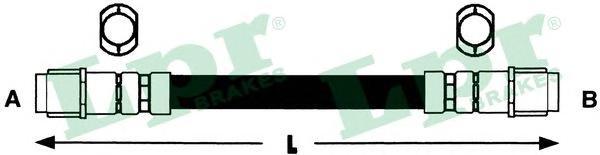 Шланг тормозной LPR 6T47950 Touareg зад. M10*1/M10*1 (См рисунок)