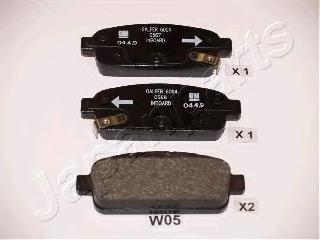 PPW05AF колодки тормозные-задние, диск
