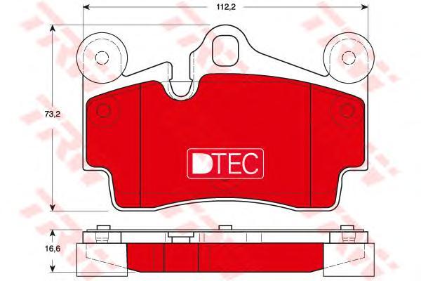 Колодки задние AUDI Q7 (4L), PORSCHE CAYENNE (955) GDB1653DTE