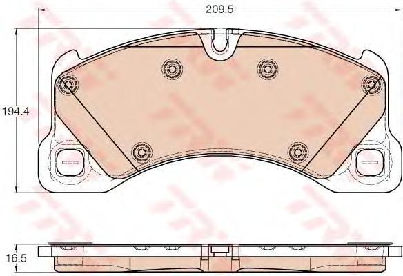Колодки тормозные TRW GDB1969 VW Touareg 10- пер