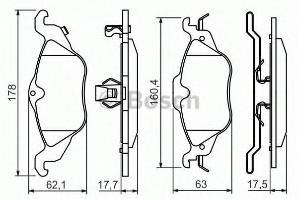 Колодки тормозные OPEL ASTRA G 1.2/1.4/1.6/1.7D передние