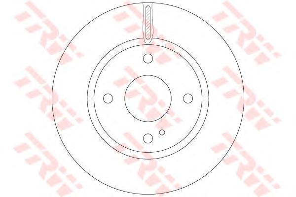 Диск тормозной TRW DF6399 FIESTA 08- Пер 258*23