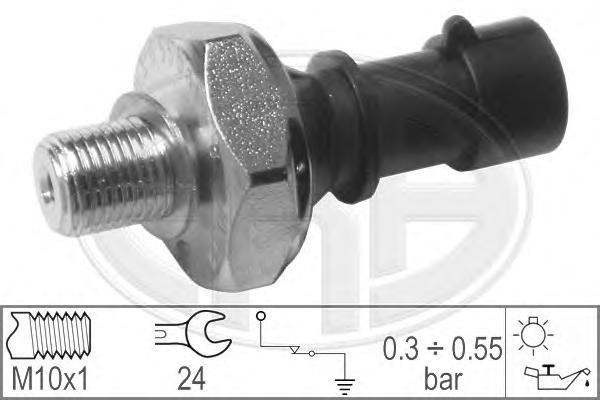 Датчик давления масла ERA 330366 Opel Astra/Corsa/Insignia/Meriva/Zafira,7.0141/70141/55354325/111342/12 52 555/12 52 573/55 354 325/90 534 902