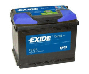 Аккумулятор EXIDE EXCELL 12V 62AH 540A ETN 0(R+) B13 242x175x190mm 15.56kg