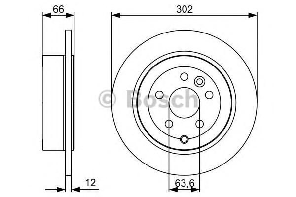 Диск тормозной LAND ROVER FREELANDER 2.2SD/TD 06- задний D=302мм.
