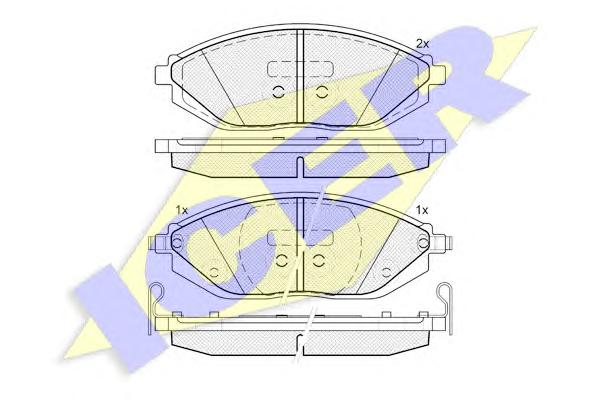 Колодки тормозные ICER 182023 SPARK (M300) 10- пер
