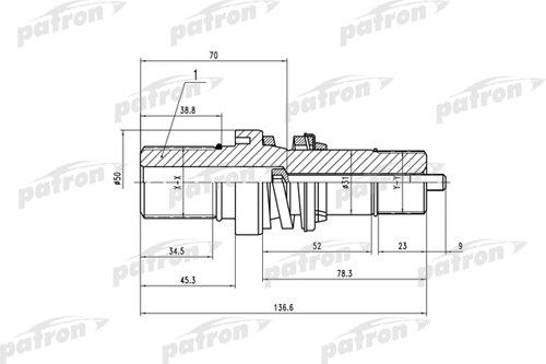 Вал приводной внутреннего ШРУСа от КПП прав, без пружины и кольца VW: T5/Multivan T5 1.9TDi