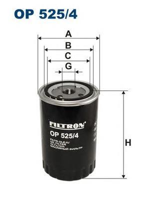 Фильтр масляный FILTRON OP5254 VAG A4 1.9TDI/A6 1.9TDI/PASSAT